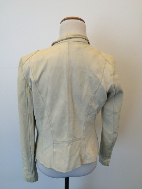 Andrew Marc Off White Leather Jacket
