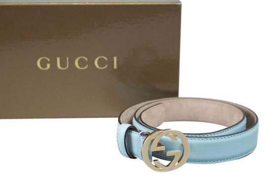 Gucci * Gucci Slim Ladies Belt - Size 70/28 - Baby Blue