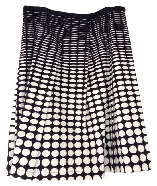 Calvin Klein Geometric Modern With Pockets A-line Skirt Black and White