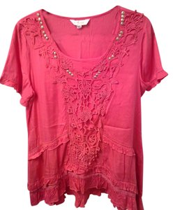 Together Detail Lace Trim Tunic