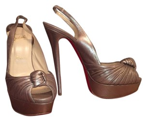 Christian Louboutin Pewter Platforms