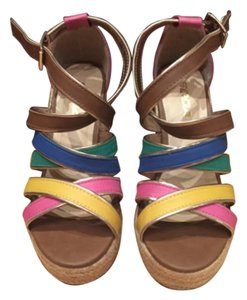 Soda Blu Multi colored Wedges