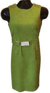 Worth short dress Soft Lime-Green Lime Belted Fitted Spring Sumer on Tradesy