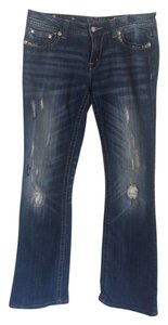 Miss Me Distressed Boot Cut Jeans-Medium Wash