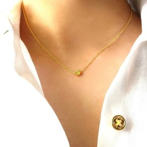Elliot Francis Mini gold daisy necklace