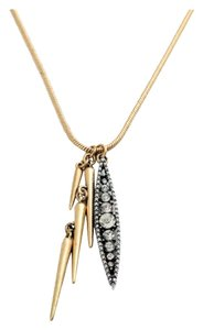 Other Brand New Gold & Silver Spike Crystal Necklace