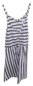 RVCA short dress Black/White striped on Tradesy