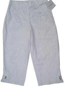 Croft & Barrow Capris White
