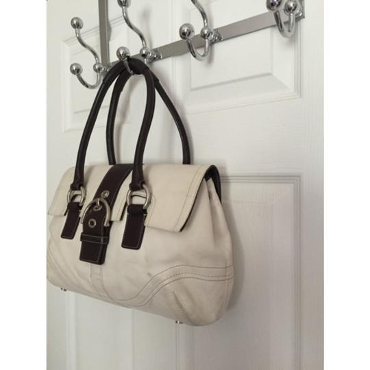 Coach Tote in White Brown