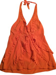 BCBGMAXAZRIA ORANGE Halter Top