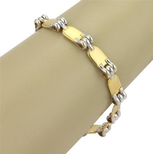 Baraka 15436 Baraka 18k Two Tone Gold Fancy Design Reversible Bracelet 8.5