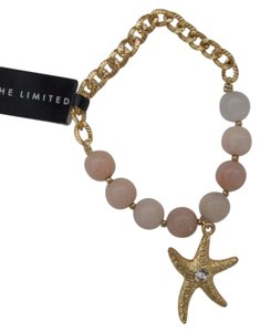 The Limited Stretch Pink Glass Goldtone Stacking Bracelet