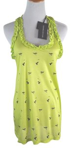 Thomas Wylde Black T Shirt Camisole Top Lime
