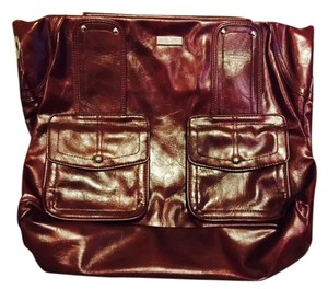 MICHE Prima Shell Patent Leather Cheryl Tote in Burgundy