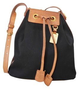 Dooney & Bourke Designer Drawstring Satchel Tote in Black