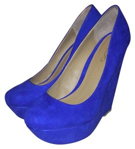 ALDO Blue Wedges
