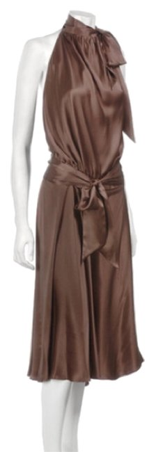 Item - Brown Harlow Knee Length Cocktail Dress Size 2 (XS)