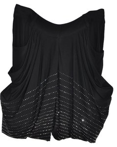 Thomas Wylde Wylde Embelished Harem Dress Mini Skirt Shorts Black