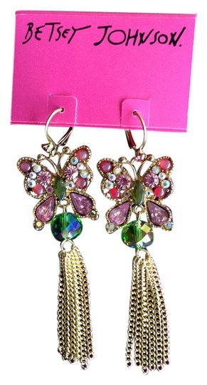 Betsey Johnson Butterfly Earrings