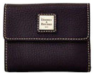 Dooney & Bourke Dooney & Bourke Pebble Grain Small Flap Wallet Black