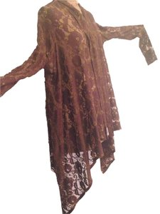 Dries van Noten Lace Throw Lace Cardigan Lace Coverup Top brown