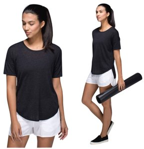 Lululemon Blouse Sweater T Shirt Heathered Black