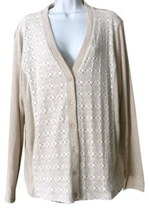Jones New York Lace Stretch V-neck Cardigan
