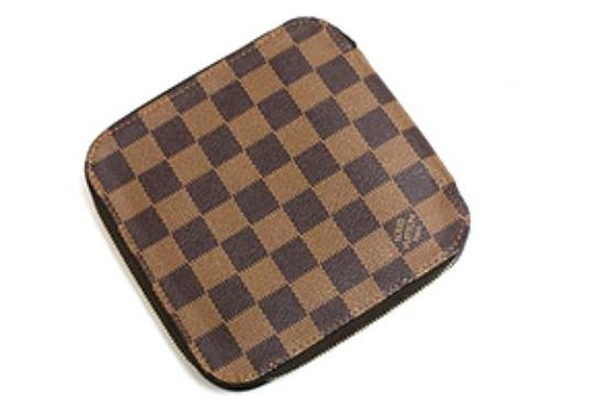 Louis Vuitton Rare Authentic Louis Vuitton Damier Ebene Olav Zip Around Wallet/Organizer