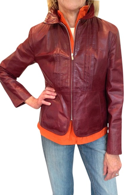 Banana Republic Oxblood Leather Jacket