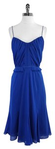 Club Monaco short dress Blue Silk Spaghetti Strap on Tradesy