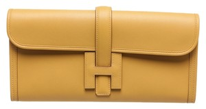 Hermès Tan Clutch
