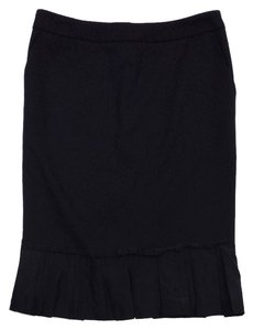 Dolce&Gabbana Black Wool Blend Pencil Skirt