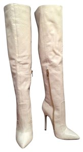 London Trash Fall Winter Sexy Tall White Boots