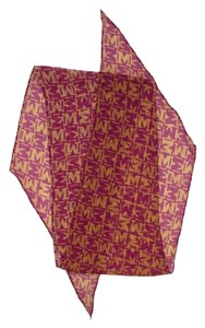 Missoni Pink & Gold Monogram Silk Scarf