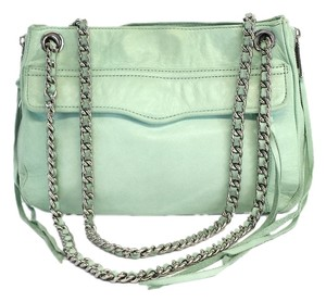 Rebecca Minkoff Mint Green Leather Swing Cross Body Bag