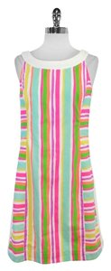 Lilly Pulitzer short dress Darcy Multi Color Striped Cotton on Tradesy