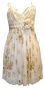 Anthropologie short dress Cream White/Gold on Tradesy