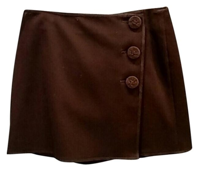 Max Studio Mini Skirt Chocolate Brown