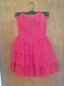 H&M short dress Red, White polka dots on Tradesy