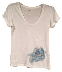 Gap T Shirt White, Blue