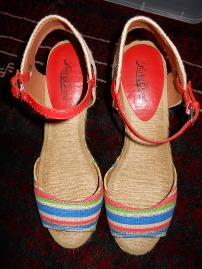Lucky Brand Wedge multi color Sandals
