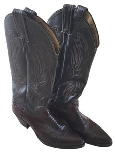 Justin Chocolate Brown Boots