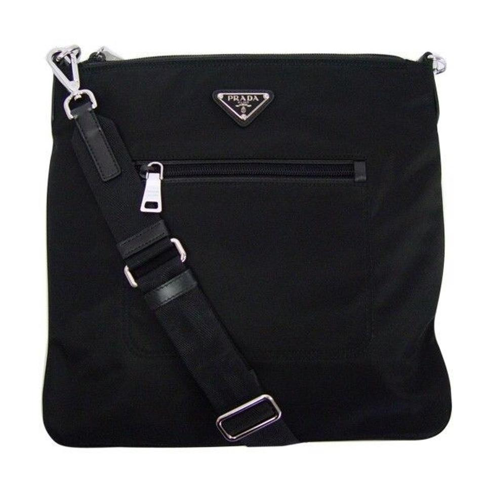 eca05a4ec360 Prada Tessuto Bandoliera Messenger Bt0716 Black Nero Nylon Leather ...