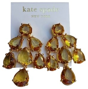 Kate Spade Kate Spade NY Chandelier Earrings Colorado Stone Amber Seasonless NWT Dust Cover $98
