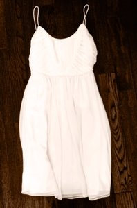 BHLDN Ivory Polyester Chiffon Giselle Formal Bridesmaid/Mob Dress Size 4 (S)