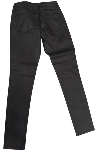 The Limited Coated Denim Leather Coated Skinny Skinny Jeans-Coated