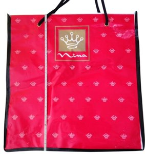Nina Ricci Vintage Tote in red with white crowns