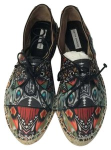 Tabitha Simmons Black green red orange Flats