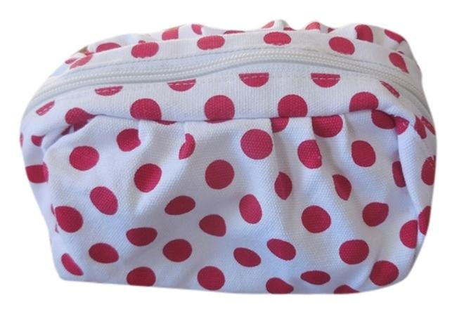Item - White with Red Polka Dots Cosmetic Bag