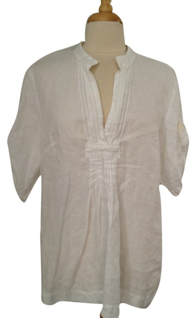 Preload https://item4.tradesy.com/images/michael-michael-kors-white-linen-tunic-size-16-xl-plus-0x-6144853-0-0.jpg?width=400&height=650
